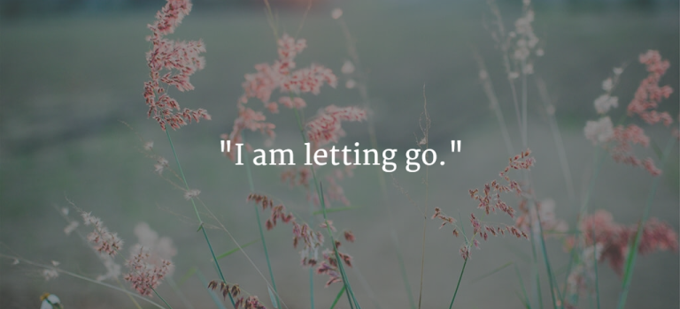"Mama Mantra of the Moment: ""I am letting go."""